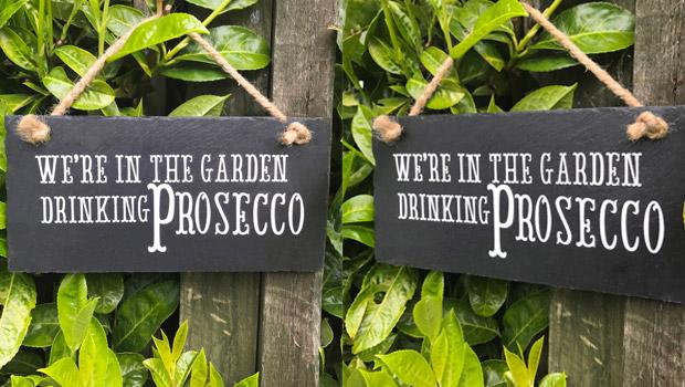 prosecco garden sign