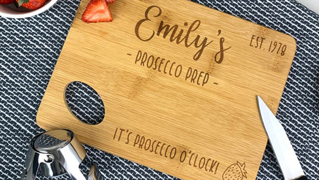 prosecco station chopping board